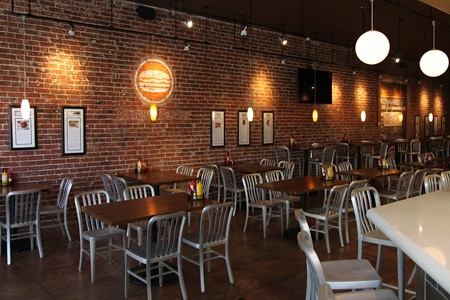 Dining room at Burger Parlor, Fullerton, CA