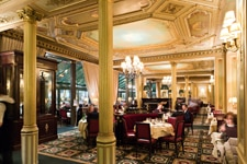 Dining room at Le Café de la Paix, Paris, france