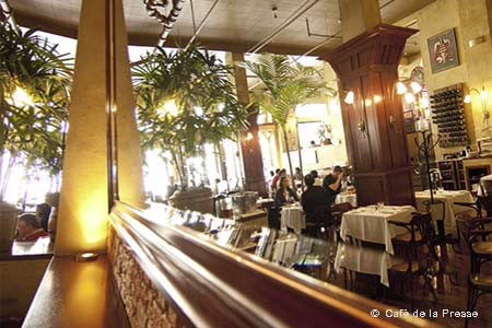 Dining Room at Café de la Presse, San Francisco, CA