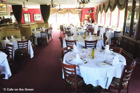 Traditional Italian dining overlooking Richter Park Golf Course with a country club vibe.