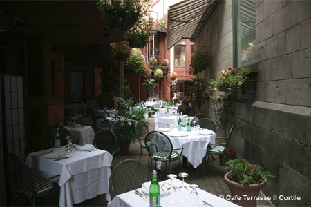 Dining Room at Cafe Terrasse Il Cortile, Montréal, QC
