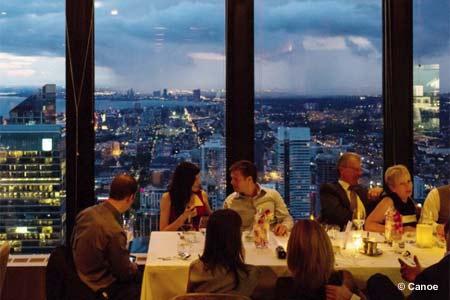 Panoramic city views make Canoe Restaurant & Bar one of the Best Romantic Restaurants in Toronto