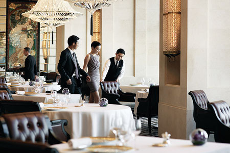 Schedule a business lunch with clients at Caprice in Hong Kong