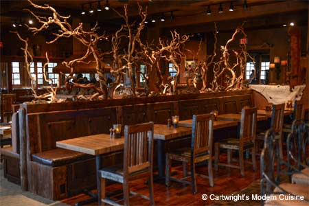 Cartwright's proves that local cowboys have gone urban, having polenta and risotto with their steak, elk and buffalo.