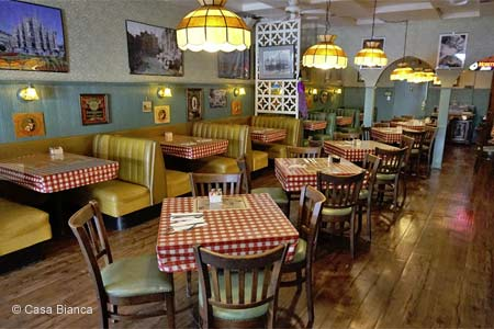 Enjoy a meal with the family at Casa Bianca Pizza Pie in Eagle Rock
