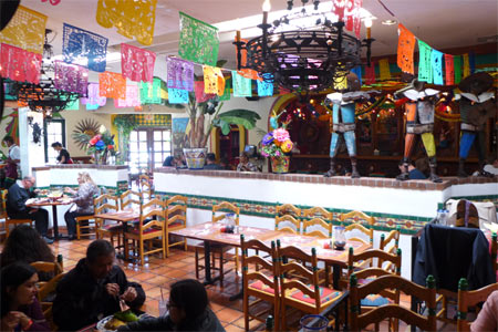 A festive Mexican restaurant at the edge of Old Town San Diego.