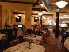 Dining room at Casa Nostra Ristorante, Pacific Palisades, CA
