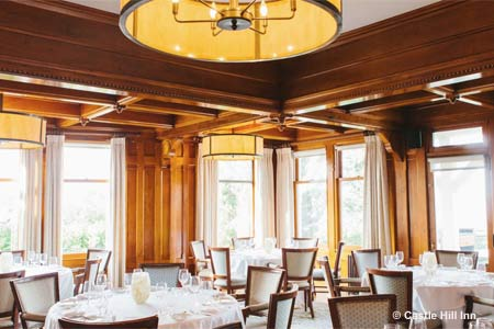 The Dining Room at the Castle Hill Inn & Resort is one of the best romantic restaurants in Providence