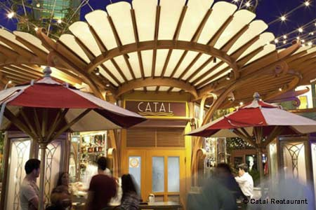 Dining Room at Catal Restaurant, Anaheim, CA