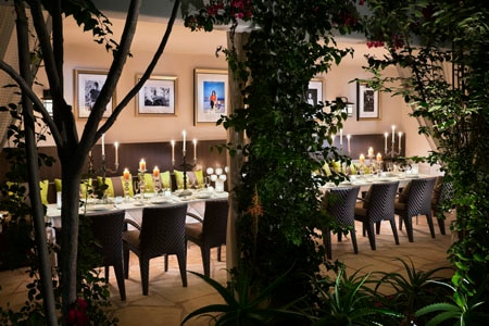 Dining room at Cavatina, West Hollywood, CA