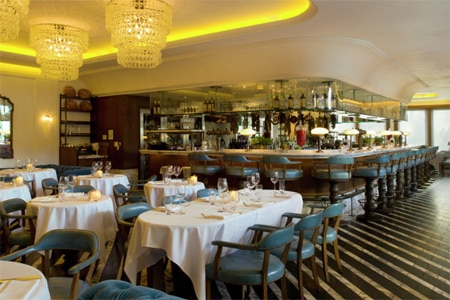 Cecconi's attracts a very trendy crowd with its classic setting and comforting and authentic Italian fare.