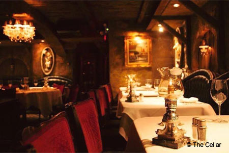 The Cellar is one of GAYOT's Best French Restaurants in Orange County
