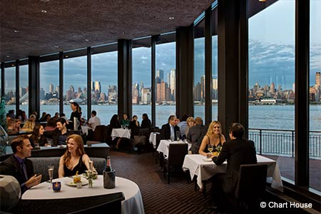 Dining Room at Chart House, Weehawken, NJ