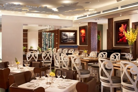 Chefs Club by FOOD & WINE restaurant at The St. Regis Aspen Resort features dishes created by star chefs