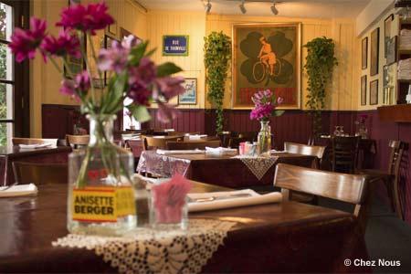Dining Room at Chez Nous, Austin, TX