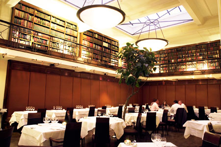 Dining room at The Cinnamon Club, London, UK