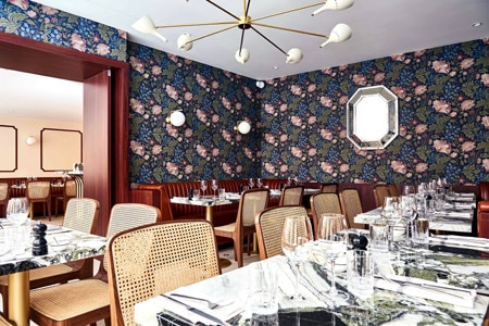 Dining Room at Clover Grill, Paris,