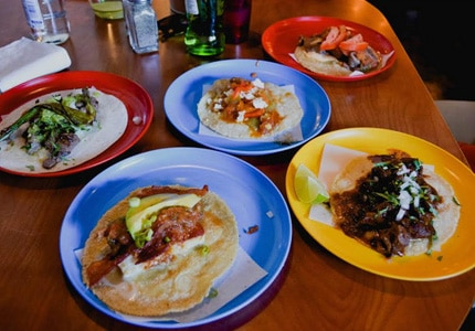 Colonia Taco Lounge in Los Angeles, one of GAYOT's Top 10 Taco Stands in the U.S.
