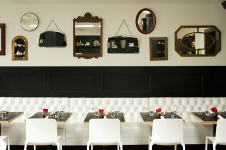 Dining room at Comme Ca, West Hollywood, CA