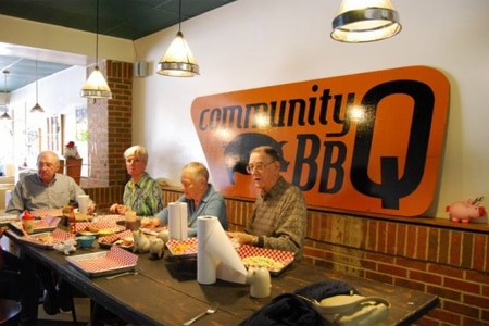 Dining room at Community BBQ, Decatur, GA