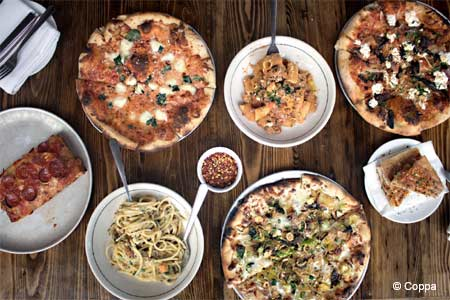 Coppa restaurant serves some of the best pizza in Boston