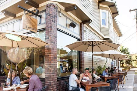 Coquine is one of GAYOT's Best Outdoor Dining Restaurants in Portland, OR