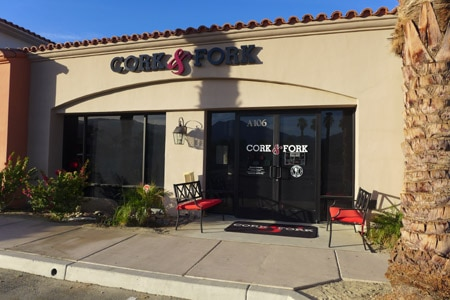 Dining room at Cork & Fork, La Quinta, CA