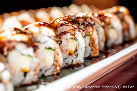 Enjoy some of the best sushi in Las Vegas at CRAVE American Kitchen & Sushi Bar