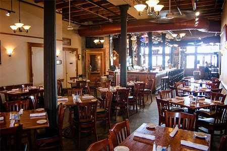 Dining room at Crescent City Brewhouse, New Orleans, LA