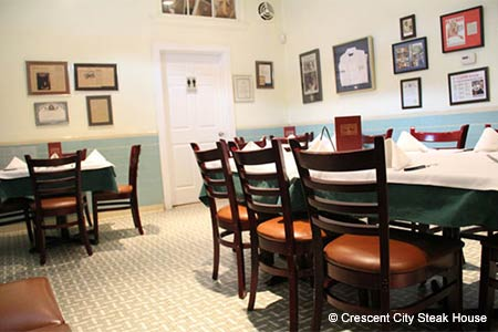 Dining Room at Crescent City Steak House, New Orleans, LA