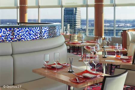 With its city views, Cygnus 27 is one of GAYOT's Best Romantic Restaurants in Grand Rapids