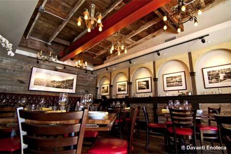 Dining Room at Davanti Enoteca, San Diego, CA