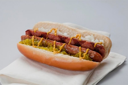 Hot dogs created by a talented chef are offered at DC-3 in Washington, D.C.