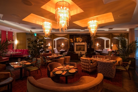 Dining Room at Delilah, West Hollywood, CA