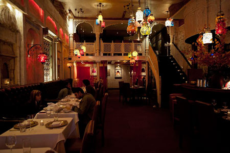 Dining room at Devi, New York, NY