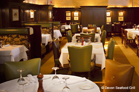 Dining Room at Devon Seafood Grill, Philadelphia, PA