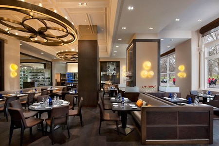 Dining room at Dinner by Heston Blumenthal, London, UK