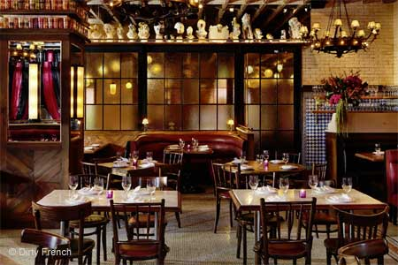 Enjoy a romantic meal at Dirty French, one of GAYOT's Best Sexy Restaurants in NYC