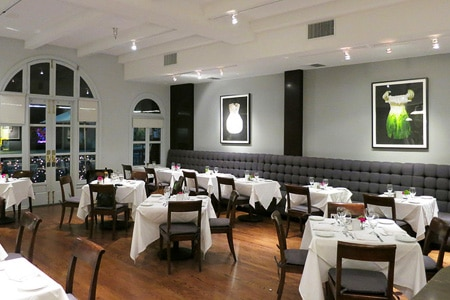 Dining room at DOMA, Beverly Hills, CA