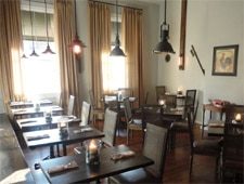 Dining room at Dovetail, Macon, GA