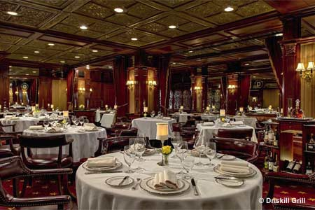 Enjoy a romantic dinner at Driskill Grill restaurant in Austin