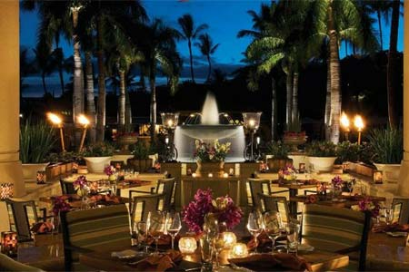DUO at the Four Seasons Resort Maui features fresh air dining for breakfast and dinner.
