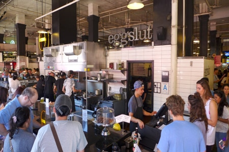 Dining room at Eggslut, Los Angeles, CA