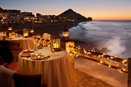 Dining room at El Farallon, Cabo San Lucas, mexico