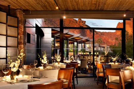Dining room at elements, Paradise Valley, AZ