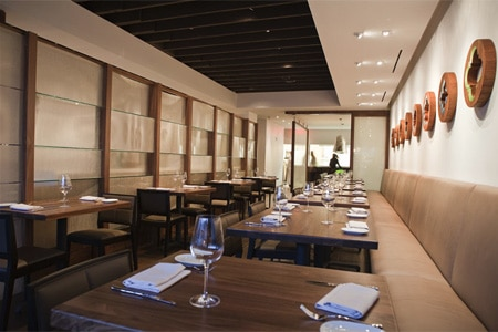 Awash in white, Elm Restaurant has an airy and serene atmosphere