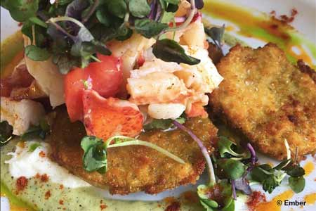 Ember in Arroyo Grande has one of GAYOT's top food ratings in California's Central Coast area