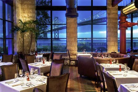 The dining room of EPIC Steak, one of GAYOT's Top 10 Restaurants for Brunch in San Francisco