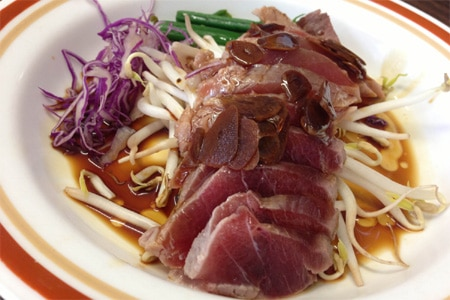 Popular with locals for its simple Japanese fare and signature ahi tataki appetizer.