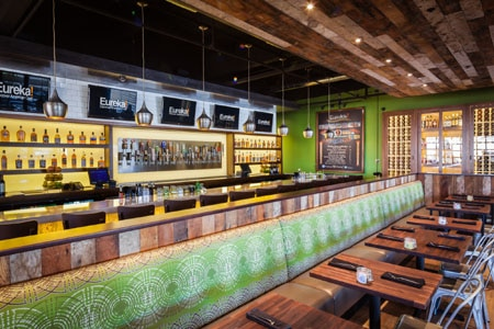Burgers, beer and bourbon create the right mix for casual-style dining at this inviting gastropub.